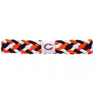 Chicago Bears Braided Elastic Headband/Hairband